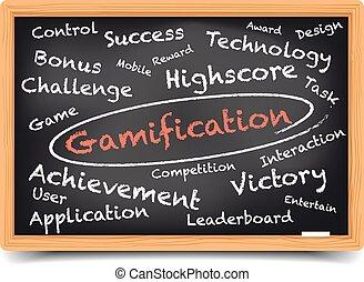 Gamification Wordcloud Blackboard