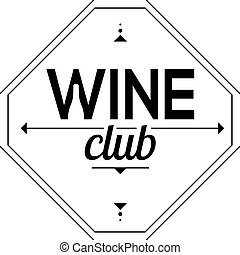 Symbol of the wine club Sign sommelier vector illustration