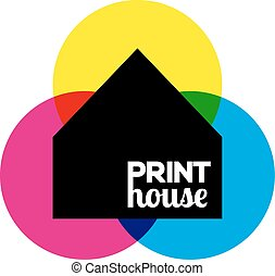 Printing icon print-house ink symbol design - Vector...