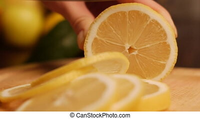 lemon - cut the lemons