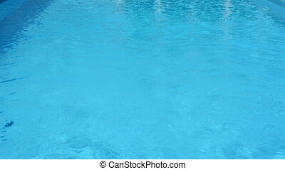 Surface of water in the pool.