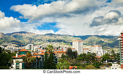 Funchal's residential district - view of a Funchal's...