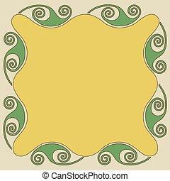 Art nouveau frame, ornament