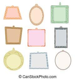 Vector illustration of frames set