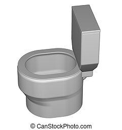 Toilet seat, isolated on white background. 3D render.