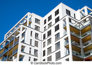 Modern block of flats in Berlin - Modern block of flats seen...