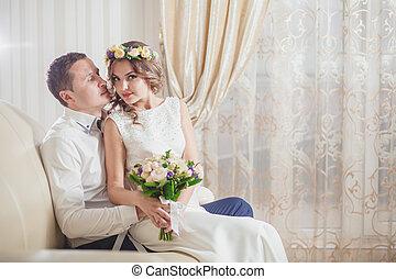 Bride Groom feeling love happy