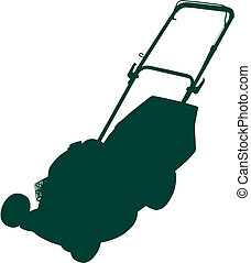 lawnmower - This image is a vector illustration and can be...