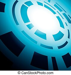 blue abstract background with round