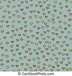 Seamless pattern with tiny hearts