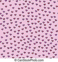 Seamless pattern with tiny hearts.