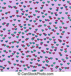 Seamless pattern with tiny colorful hearts Abstract...