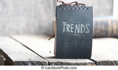 Trends concept, chalk inscription - Trends text, chalk...