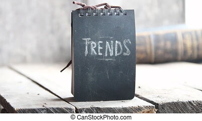 Trends concept, chalk inscription - Trends text, chalk...