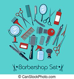 Barber and Hairdresser Tools Set