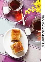 Baklava - Handmade baklava, traditional turkish pastry