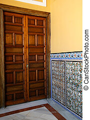 Moorish Hall and Door in Sevilla Alcazar