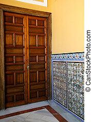 Moorish Hall and Door in Sevilla Alcazar