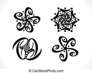 abstract artistic floral shapes.eps