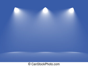 Spot light abstract gallery theater interior 3d realistic...