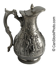 Old pewter pitcher - Antique pewter pitcher with a beautiful...