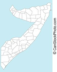 Map of Somalia - A large and detailed map of Somalia with...