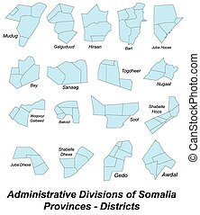 Map of Somalia - Large and detailed maps of all provinces of...