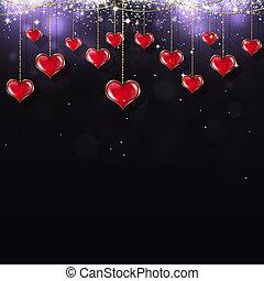 Valentine Red on dark Background