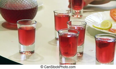 People Drink An Alcohol - group people toasting and drink an...