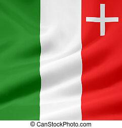Flag of Neuchatel - Switzerland