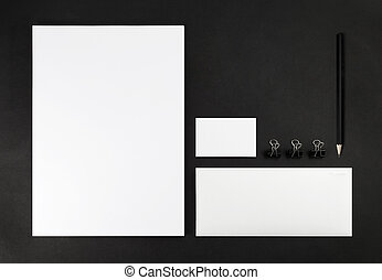 Corporate identity template - Photo of blank stationery set...