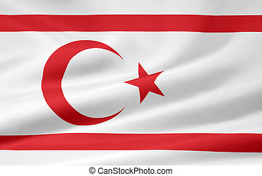 Flag Of The Turkish Republic Of Northern Cyprus - Very large...