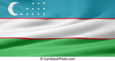 Flag of Uzbekistan - High resolution flag of Uzbekistan