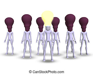 stand out crowned - Idea and creativity will make you stand...