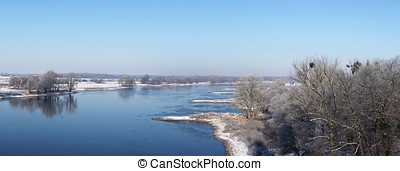 Elbe River - view of the Elbe River near Magdeburg in the...