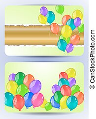 Cards with colorful balloons