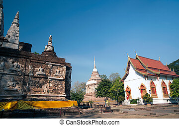 Chedi in Wat Chet Yot temple - Maha Chedi in Wat Chet Yot in...