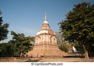 Chedi of Wat Chet Yot temple - Tilokarat Chedi on Wat Chet...