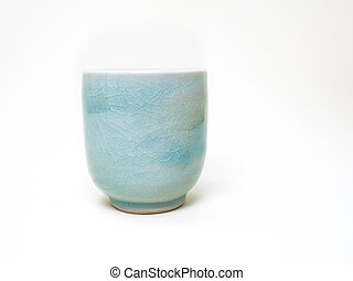 Japanes Tea Cup on white background