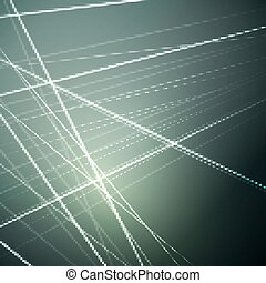 Vector illustration of glowing lines, abstract futuristic background for various design artworks