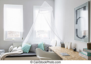 This room is so hipster - Beautiful light room with big bed,...