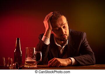 Businessman in a Bar