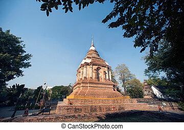 Wat Chet Yot temple in Thailand. - Tilokarat Chedi on Wat...