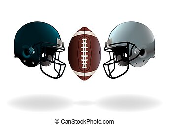 American Football Championship Game - An illustration of...