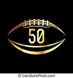 American Football 50 Emblem - An american football emblem...