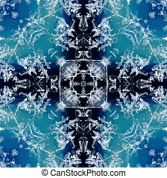 kaleidoscope square: snow on geode - kaleidoscope square:...