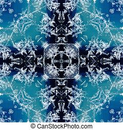 caleidoscópio, square:, neve, ligado, geode,