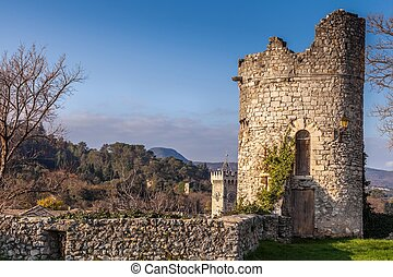 Festung turm der stadt viviers Frankreich - Fortress tower...