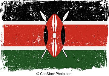 kenya flag vectoreps - Kenya vector grunge flag isolated on...