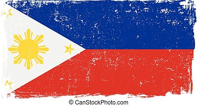 philippines flag vector.eps - Philippines vector grunge flag...